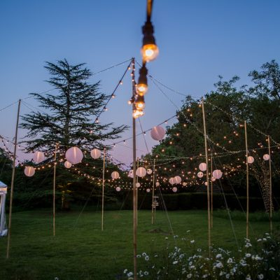 Bore Place, rustic, marquee, professional wedding lighting