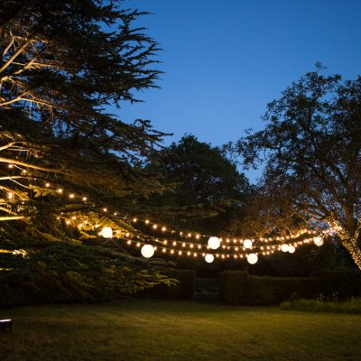 professional wedding lighting, Bore Place, festoon
