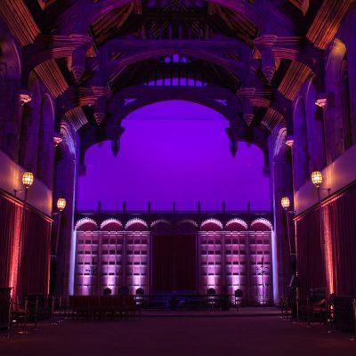 professional wedding lighting, Eltham Palace, uplighting