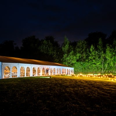 Professional wedding lighting, marquee