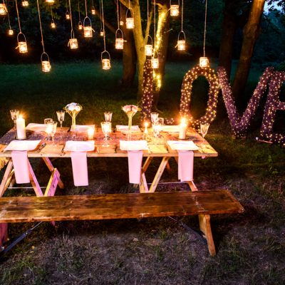 professional wedding lighting, love letters
