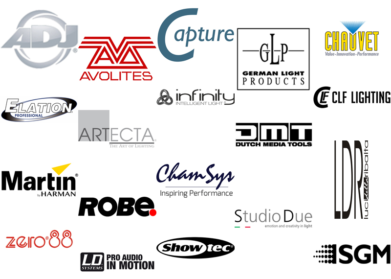 Brands - Sales from Creative Spark - Lighting and electronics for theatre and events